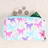 MILLY GREEN PLAYFUL PONIES LONG WALLET - - MLG0065
