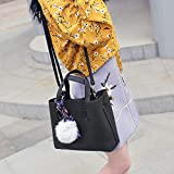 LFG Bucket Bag Damen Schulter diagonal Cross-Body Bag Fell Ball Schal Brötchen Mutter Big Bag, Blackbags Frauen