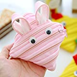 EgBert Creative Zip Wallet Card Aufbewahrungstasche Cute Rabbit Flog Duck Organizer - Hang Bag - Pink