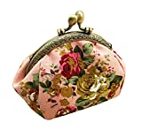 Tongshi Retro Frauen Shell Shape Flower Design Münze Geldbeutel Geldbörse Bag Münze Pocket (rosa)