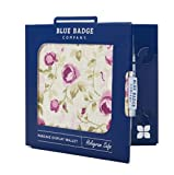 Disabled Blue Badge Holder Parkschein & Timer Wallet Fabric Protector Cover Mulberry Rose
