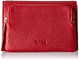 BREE Damen Liv 135, Brick Red, Flap Wallet M Geldbörse, Rot (Brick Red), 3x9x14 cm