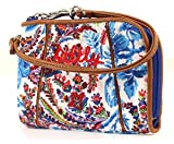 Oilily Wrist Wallet Geldbörse Geldbeutel Dutch Flower Blau Blue