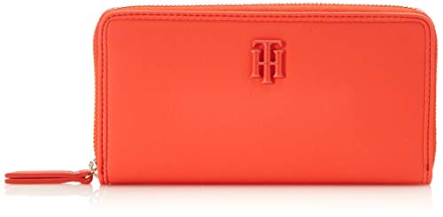 Tommy Hilfiger Damen Th Chic Lrg Za Geldbörse, Orange (Bright Vermillion), 1x1x1 cm