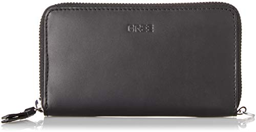 BREE Collection Damen Liv New 108, Zip. Com. Pu. Geldbörse, Schwarz (Black Smooth), 3x9.5x13 cm