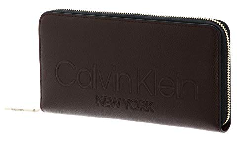 Calvin Klein Zip Around Wallet L Slate Brown