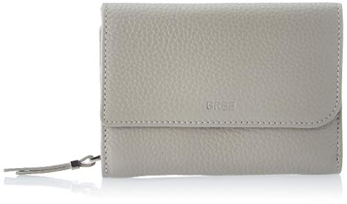 BREE Collection Damen NEA 160, Grain, Combin. Purse S20 Geldbörse, Grau (Stone), 3x9.5x13 cm