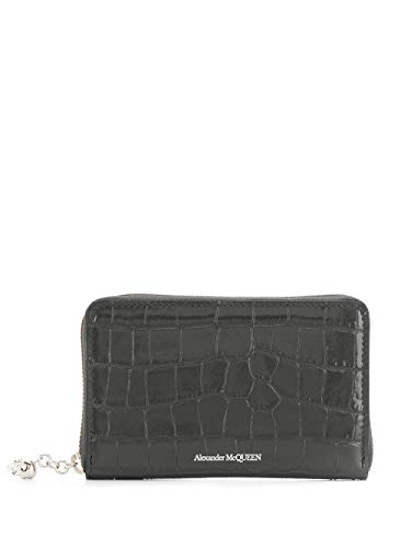 Alexander McQueen Luxury Fashion Damen 5541981JM0I1243 Schwarz Brieftaschen | Herbst Winter 19
