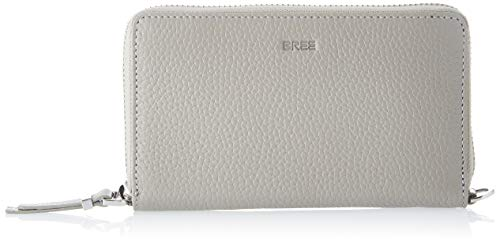 BREE Collection Damen NEA 161, Grained, Long Purse S20 Geldbörse, Grau (Stone), 3x9x19 cm