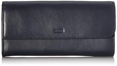 BREE Collection Damen Lynn 164, Long Purse Geldbörse, Blau (Navy), 2.5x10x19.5 cm