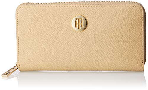Tommy Hilfiger Damen Th Core Lrg Za Wallet Geldbörse Beige (Warm Sand)