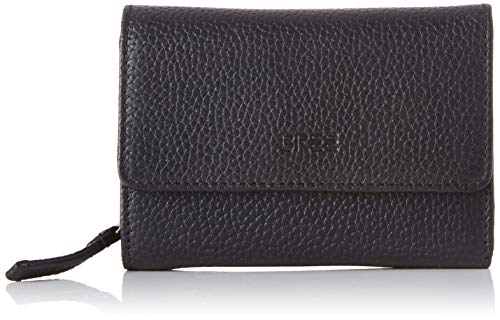 BREE Collection Damen Liv New 108, Zipped Combi. Purse Geldbörse, Schwarz (Black), 3x9.5x13 cm