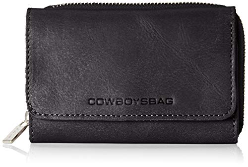 Cowboysbag Damen Purse Warkley Geldbörse, Schwarz (Black), 3x3x3 cm
