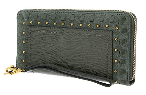 Fossil Logan RFID Zip Around Clutch Aloe Over The Top