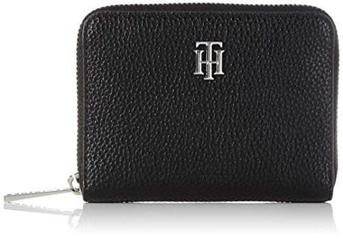 Tommy Hilfiger Damen TH Essence MED ZA Wallet Kleine Lederwaren, Schwarz, One Size