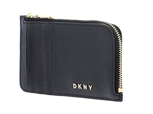 DKNY Bryant Zip Card Holder Black/Gold