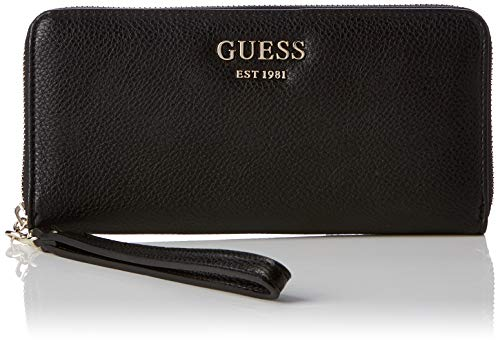 Guess Damen Vikky SLG Large Zip Around Geldbeutel, Schwarz (Nero), 21x10x2 Centimeters (W x H x L)