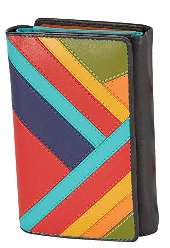 Visconti Trifold Leder Damen Geldbörse Clara Multicolor Purse(CR14):, Multi, Medium