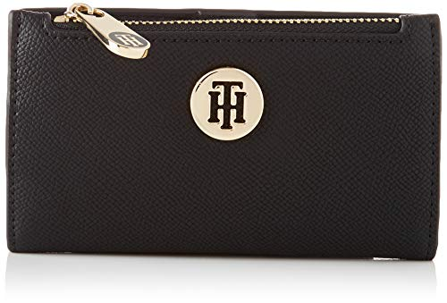 Tommy Hilfiger Damen Honey Slim Wallet Kleine Lederwaren, Schwarz, One Size