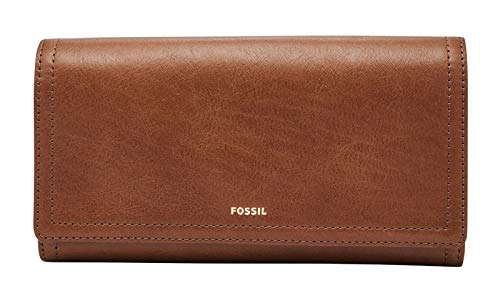 Fossil Womens Logan Tab Clutch, Brown, 17.145 cm x 1.905 cm x 8.89 cm