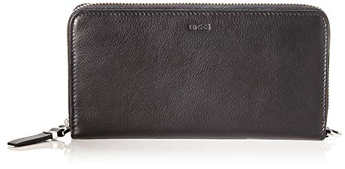 BREE Collection Damen Lynn 163, Zipped Long Purse Geldbörse, Schwarz (Black), 2.5x10x19.5 cm