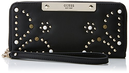 Guess Damen SLG Wallet Geldbeutel, Schwarz (Black), 2x10x20 Centimeters