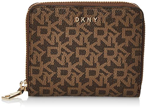 DKNY Bryant Small Zip Around S Mocha/Crml