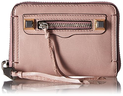 Rebecca Minkoff Women's Mini Regan Zip Wallet, Lilac Rose, One Size