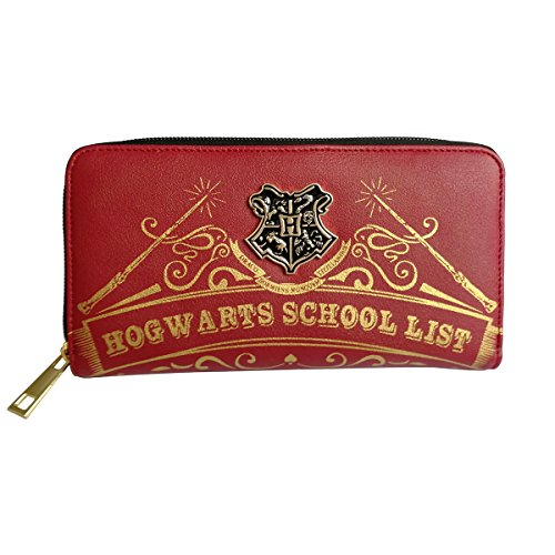 Damen Harry Potter Hogwarts 9 3/4 Abzeichen Tri-Fold Armband Clutch Bag Wallets