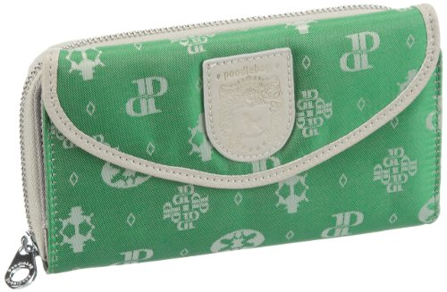 Poodlebags Damen Club-Attrazione-Cash Big Geldbörsen, Grün (green), 20x11x4 cm