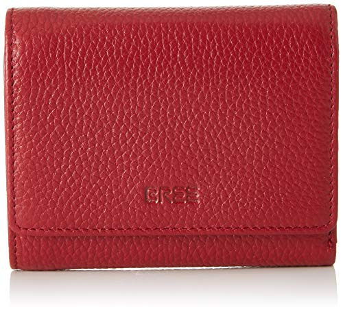 BREE Collection Damen Liv New 106, Combi. Purse Geldbörse, Schwarz (Brick Red), 2x11.5x13 cm