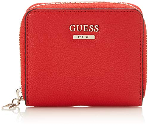 Guess Damen Michy SLG Small Zip Around Geldbeutel, Mehrfarbig (Red Multi), 2x11x9 Centimeters