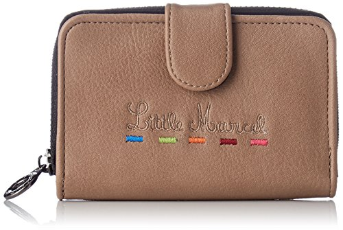 Little Marcel Id19-lm-brown, Damen Damen-Geldbörse Braun Braun (Brown)