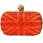 Nancy Gonzalez Shiny Crimson Red Crocodile Fold-Over Clutch