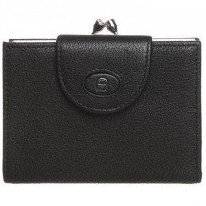 Aigner Geldbörse black mit Klickverschluss-Münzfach
