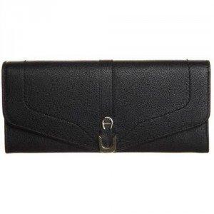 Aigner Geldbörse black mit Zipper-Münzfach