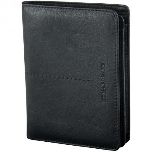 Bodenschatz Stitching (13 cm) Geldbörse black