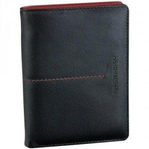 Bodenschatz Stitching (13 cm) Geldbörse schwarz/rot