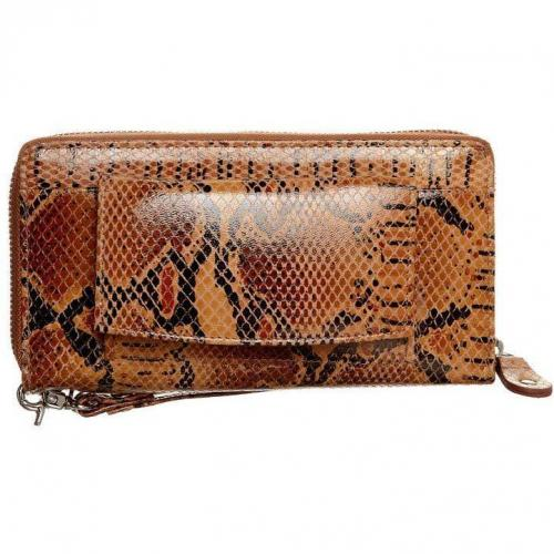 by LouLou Pretty Python Clutch dark brown