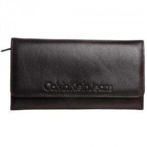 Calvin Klein Jeans Geldbörse black mit Labelprägung