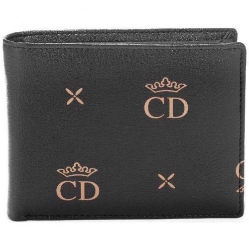 C.d. Geldbörse schwarz mit edlem Logoprint