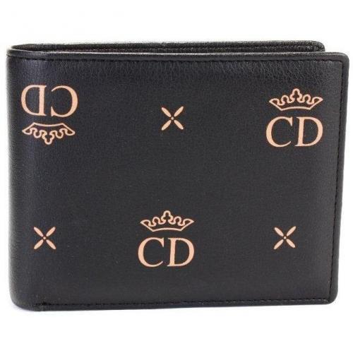 C.d. Geldbörse schwarz mit zwei Münzfächern