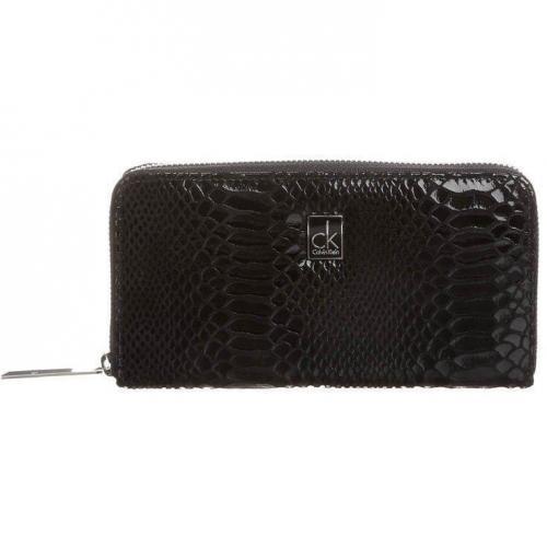 Ck Calvin Klein Geldbörse black mit Reptiloptik
