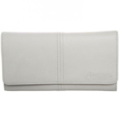 Ck Calvin Klein Minimal Lux Geldbörse white mit vielen Fächern