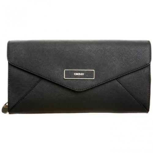 Dkny Clutch black mit Gold-Details