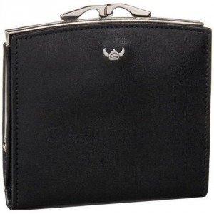 Golden Head Geldbörse schwarz mit Lederüberwurf