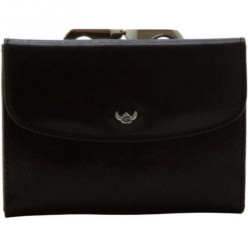 Golden Head Rfid Protect (12 cm) Geldbörse schwarz aus Rindleder