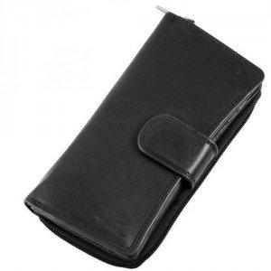 Greenburry Authentic Pullup Geldbörse schwarz mit einem Ausweisfach