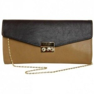 Louche Chevy Clutch black/taupe