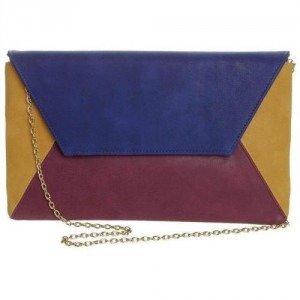 Louche Lida Clutch blue/ burgundy